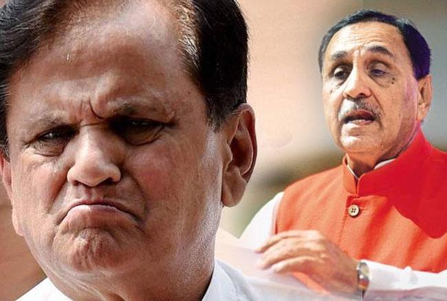 गुजरात : CM रुपानी के आरोप पर अहमद पटेल ने दी सफाई, कहा- सियासत ना करे भाजपा