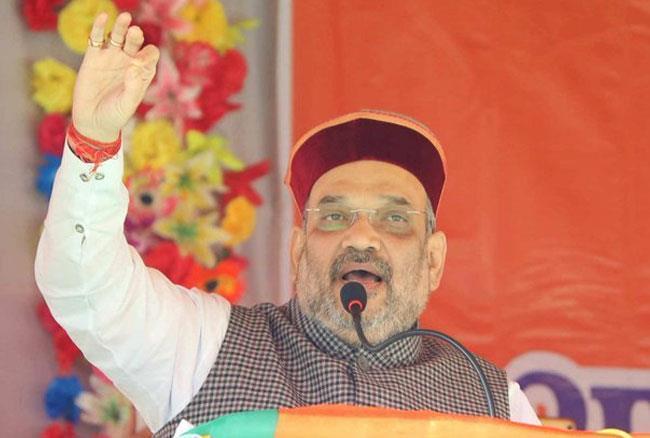 अमित शाह ने हिमाचल प्रदेश में सीएम वीरभद्र सिंह पर किए तीखे हमले, राहुल पर भी साधा निशाना