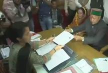 हिमाचल विधानसभा चुनाव: वीरभद्र सिंह ने अर्की विधानसभा सीट से भरा नामांकन
