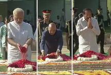 गांधी जयंतीः राजघाट पर राष्ट्रपति कोविंद, पीएम मोदी ने दी बापू को श्रद्धांजलि