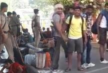 जबलपुर: सेना भर्ती में युवकों ने मचाया उत्पात, पुलिस ने जमकर भांजी लाठियां