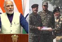 #HappyDiwali पीएम मोदी ने LOC पर मनाई दिवाली, जवानों ने पाक सैनिकों से बदली मिठाइयां