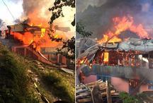 शिमला जिले के जुब्बल में इलेक्ट्रिक शॉर्ट सर्किट से 10 घर जलकर हुए खाक
