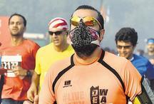 दिल्ली हाफ मैराथन पर गिरेगी एनसीआर में बढ़ते प्रदूषण की गाज