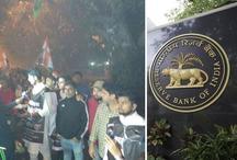 नोटबंदी की सालगिरह पर आधी रात को 'यूथ-कांग्रेस' का RBI के बाहर प्रदर्शन