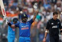 IND vs NZ: भारत 100 के पार, कोहली का अर्धशतक