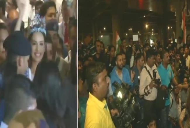 मिस वर्ल्ड मानुषी छिल्लकर का मुंबई एयरपोर्ट पर जोरदार स्वागत, भारत ने 6 बार जीता ये खिताब