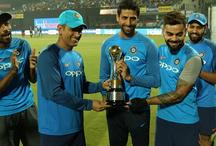 IND Vs NZ: विदाई मैच से पहले धोनी और कोहली ने नेहरा को भेंट की ये 'खास ट्रॉफी'