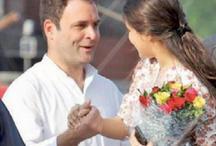 लड़की के साथ हाथों में हाथ थामें दिखे राहुल गांधी, फूलों का गुलदस्ता पकड़े थी लड़की