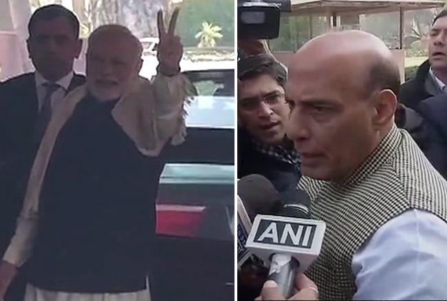 गुजरात-हिमाचल पर राजनाथ सिंह का बड़ा बयान, पीएम मोदी ने भाजपा की बढ़त पर दिखाया विक्ट्री साइन