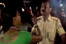 सब्जीवाली ने पुलिस वाले को रसीद किया थप्पड़, कहा- कुछ तो शर्म करो