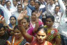 सुप्रीम कोर्ट के फैसले से नाखुश शिक्षामित्र, यूपी में भारी विरोध