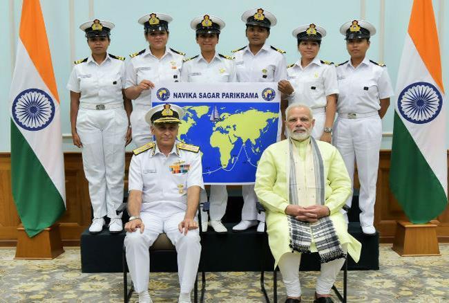 समंदर के रास्ते दुनिया फतह करने निकलेंगी नौसेना की ये  6 जाबांज महिलाएं