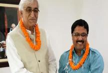 भाजपा को लगा झटका, पूर्व विधायक का बेटा कांग्रेस में शामिल