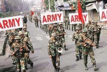 कोर्ट के फैसले के बाद पंचकुला में सेना ने किया फ्लैग मार्च