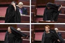 बुर्का पहनकर संसद पहुंची महिला नेता, कहा- इस पर बैन लगाना जरूरी है