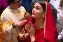 गणेश उत्सव मना रही ऐश्वर्या खुद लग रही हैं देवी