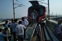 पहले दिन ही खराब हुई लखनऊ मेट्रो, यात्रियों में मचा हड़कंप