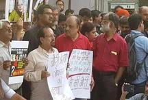 गौरी लंकेश की हत्या के विरोध में सड़कों पर उतरे पत्रकार, कहा- हम डरकर नहीं हटेंगे पीछे