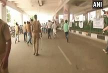 लखनऊ मेट्रो ठप विवादः समाजवादियों ने किया हंगामा, पुलिस ने बरसाई लाठी