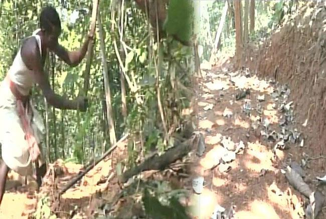Image result for Odisha: Jalandar Nayak a resident of Kandhamal carves out an 8 km road from a mountain to connect his Gumsahi village to Phulbani city so that his children can go to school without facing problems