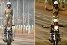 69वां गणतंत्र दिवस: राजपथ पर दिखा शक्ति प्रदर्शन, महिला कमांडो ने दिखाए हैरतअंगेज करतब