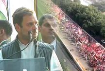 किसान मार्च में शामिल हुए कांग्रेस अध्यक्ष राहुल गांधी, सरकार पर साधा निशाना