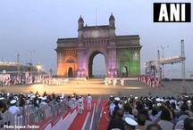 नौसेना दिवस विशेष/ 'बीटिंग द रिट्रीट सेरेमनी' के रंगों की रोशनी से सरोबार हुआ 'गेटवे ऑफ इंडिया'