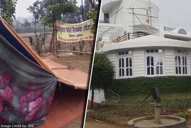 झारखंड / मंत्री के आवास के बाहर धरने पर बैठे शिक्षक की ठंड लगने से मौत