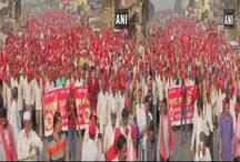 30 हजार किसान मुंबई विधानसभा का करेंगे घेराव, कर्ज माफी को लेकर प्रदर्शन जारी