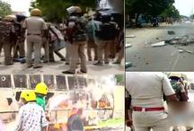 तूतीकोरिन में दर्शनकारियों ने फूंकी पुलिस की गांड़िया, प्रदर्शनकारियों पर फायरिंग में एक की मौत