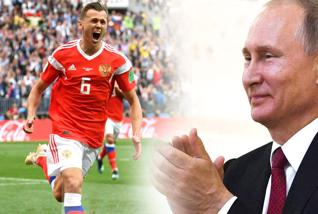 FIFA WC 2018: रूस ने सउदी अरब को 5-0 से रौंदकर किया शानदार आगाज, रातों रात खलनायक से नायक बन गये रूसी खिलाड़ी, राष्ट्रपति ने दी बधाई