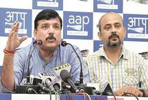 LG ऑफिस में धरना देने को लेकर केजरीवाल की आलोचना पर AAP ने राहुल पर साधा निशाना