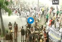 राफेल डील के खिलाफ कांग्रेस का बड़ा प्रदर्शन, पुलिस ने किया वाटर कैनन का इस्तेमाल