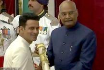 मनोज बाजपेयी को मिला पद्मश्री अवार्ड,  राष्ट्रपति श्री रामनाथ कोविंद के हाथों मिला सम्मान